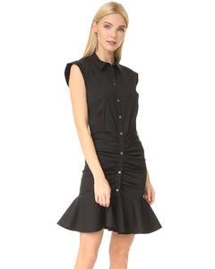 皱折衬衣式连衣裙