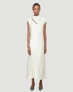 Satin Dress in White