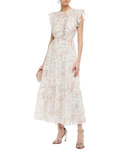 Rosee ruffled floral-print cotton-gauze maxi dress