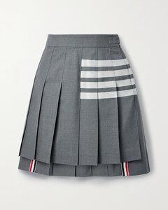 蓝色&白色条纹束带衬衫连衣裙