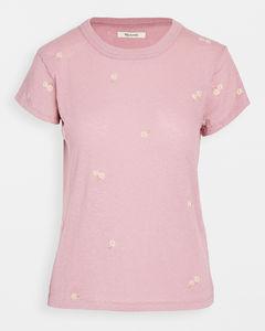 雏菊刺绣T恤