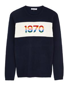 1970 navy cashmere-blend jumper