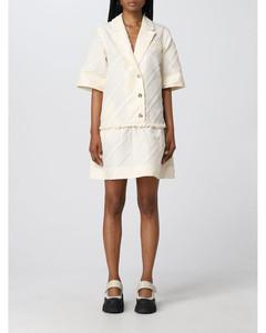皱折效果伞形连衣裙