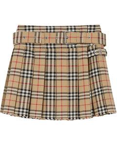 经典格纹迷你苏格兰半身裙