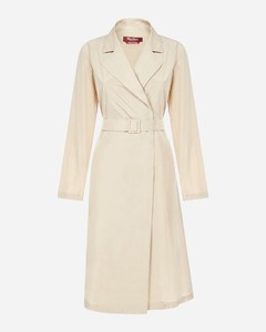 Leida taffeta trench coat