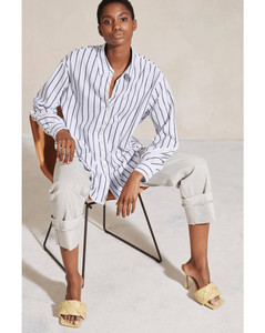 Fleres poplin cotton midi dress
