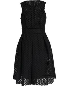 Woman Velvet-trimmed Guipure Lace Mini Dress