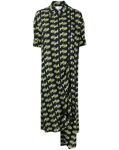 This Printed OmbréDenim Dress in Blue