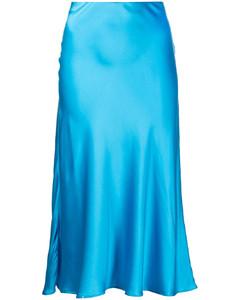 弹力棉质中长半身裙
