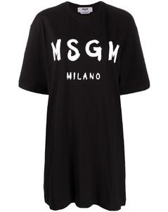 logo印花T恤式连衣裙