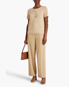 格纹羊毛宽翻领夹克