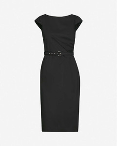 Neris belted cotton-blend midi dress