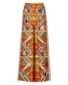 Javenia叶片印花半身裙