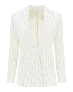 经典泡泡纱条纹西服外套
