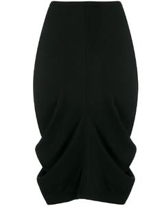 缩褶铅笔半身裙