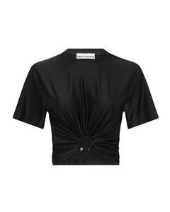 high-waisted neoprene skirt