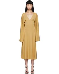 黄色Bolbec连衣裙