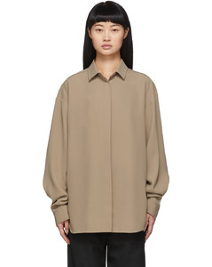 驼色Lago衬衫