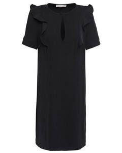 Ruffle-trimmed cady mini dress