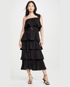 Valentina荷叶边连衣裙