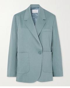 双排扣梭织西装外套