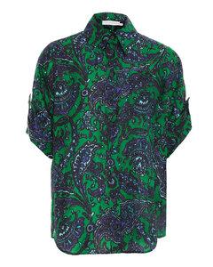 Amazon Flavor embroidered cotton-poplin dress