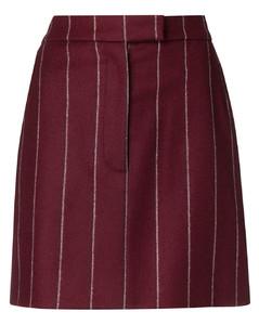 明暗条纹短裙