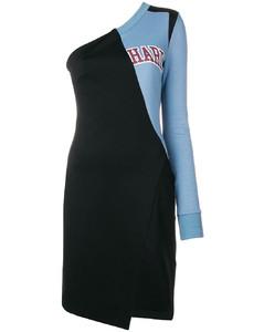 College单肩连衣裙