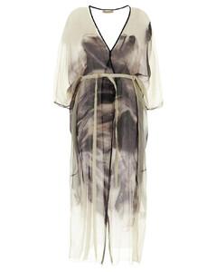 Pleated Viscose Blend Midi Dress