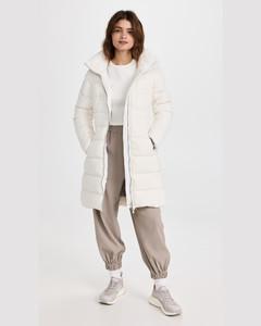 Button-front cotton-blend skirt