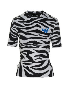 Belted striped cotton-blend dress