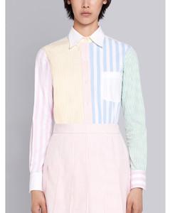 泡泡纱条纹衬衫