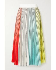 Arden褶裥绉纱中长半身裙