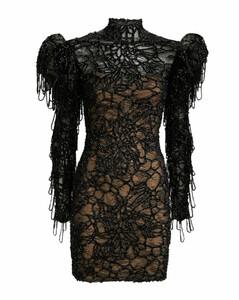 抽象印花层叠半身裙