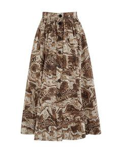Long buttoned skirt