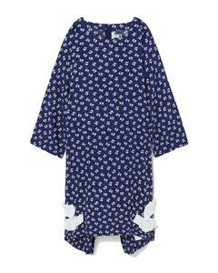 针织条纹连衣裙