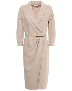 Cady Crepe Knee-length Wrap Dress