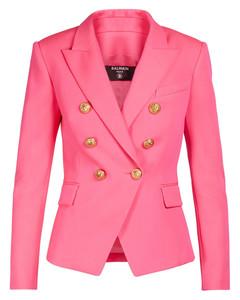 粉色对角徽标连衣裙