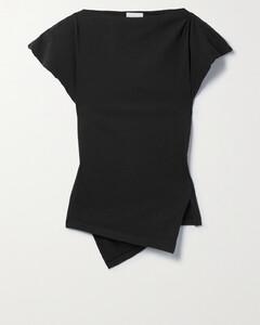格纹弹性缩褶衬衫裙