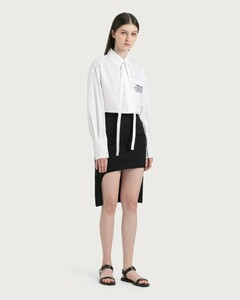 Grain De Poudre Wool Step-through Skirt