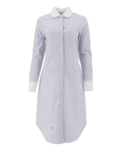 Striped cotton shirt dress