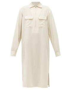 Zipped muslin shirt dress