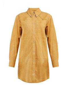 Senna Western suede shirtdress