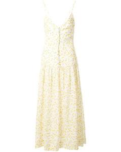 Wild Daisy花卉印花中长连衣裙