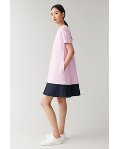 DRESS WITH CONTRAST HEM