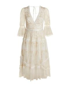 V-Neck Pennyflower Midi Dress