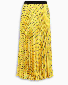 Yellow Miu Miu Flower skirt