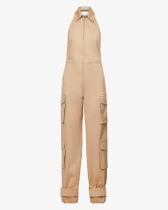 格纹无袖衬衫裙