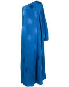 Patchwork floral print silk mini dress