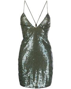 burning print crop T-shirt